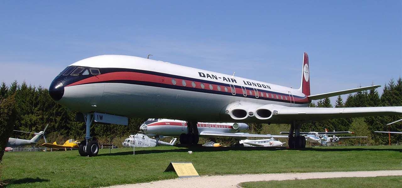 A retired Dan Air Comet 4C displayed at Flugausstellung Hermeskeil in Germany
