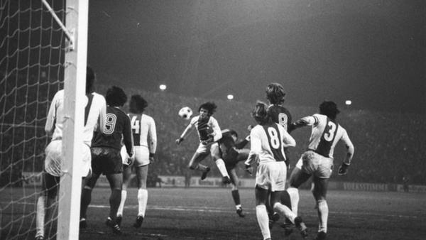 Historical picture of the DFB Pokal Final game
