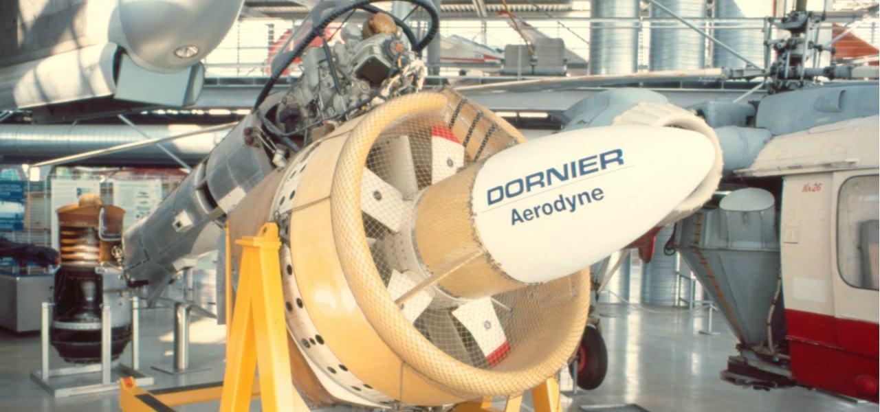 Dornier Aerodyne in an aircraft hanger