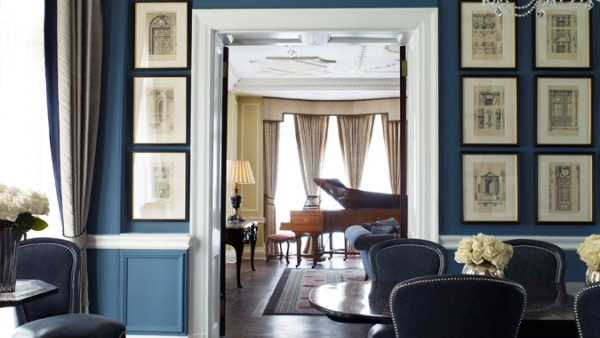 Suite dining/living area at Claridge's London