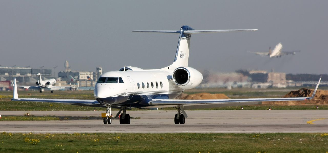 Gulfstream G500 on the ground.