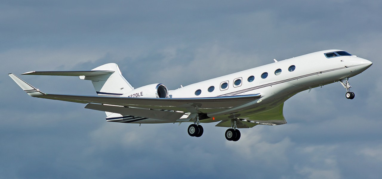 El Gulfstream G650ER en vuelo.