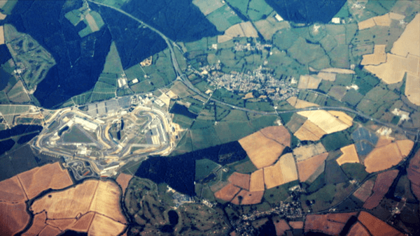 Aerial view of the Silverstone Grand Prix Circuit