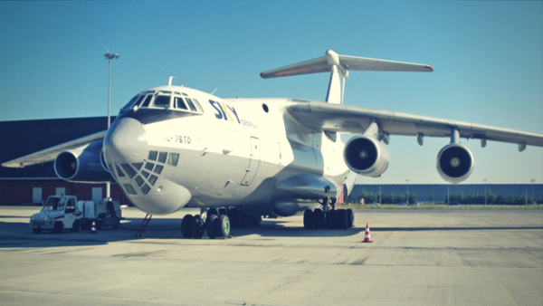 Ilyushin IL-76 aircraft used for cargo charter