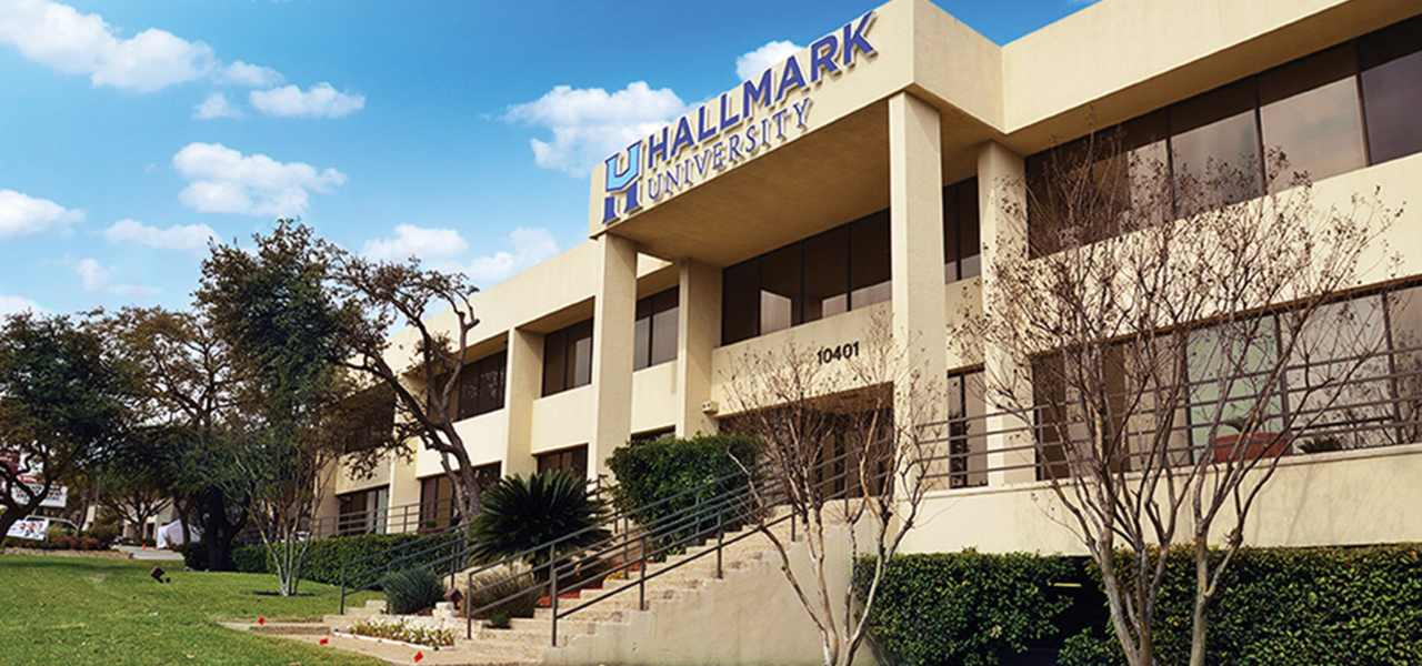 Beautiful day on Hallmark campus in San Antonio, Texas.