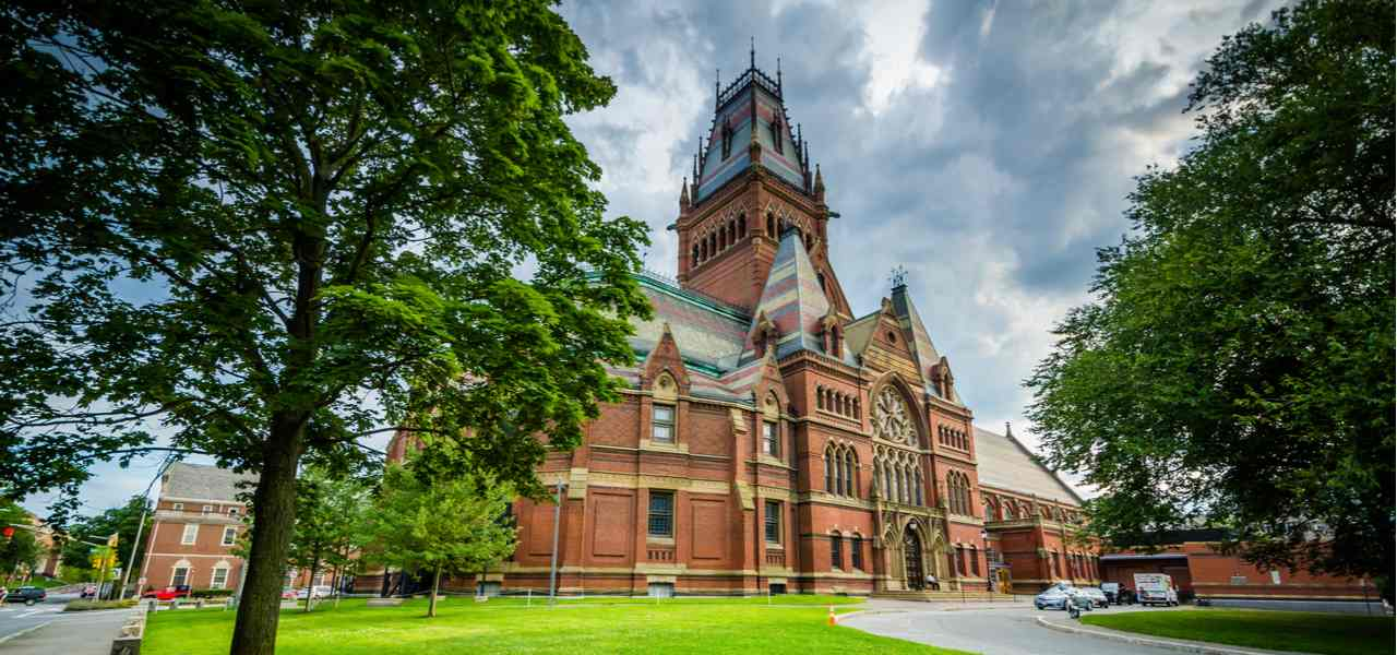 The Harvard Memorial Hall, at Harvard University, in Cambridge, Massachusetts