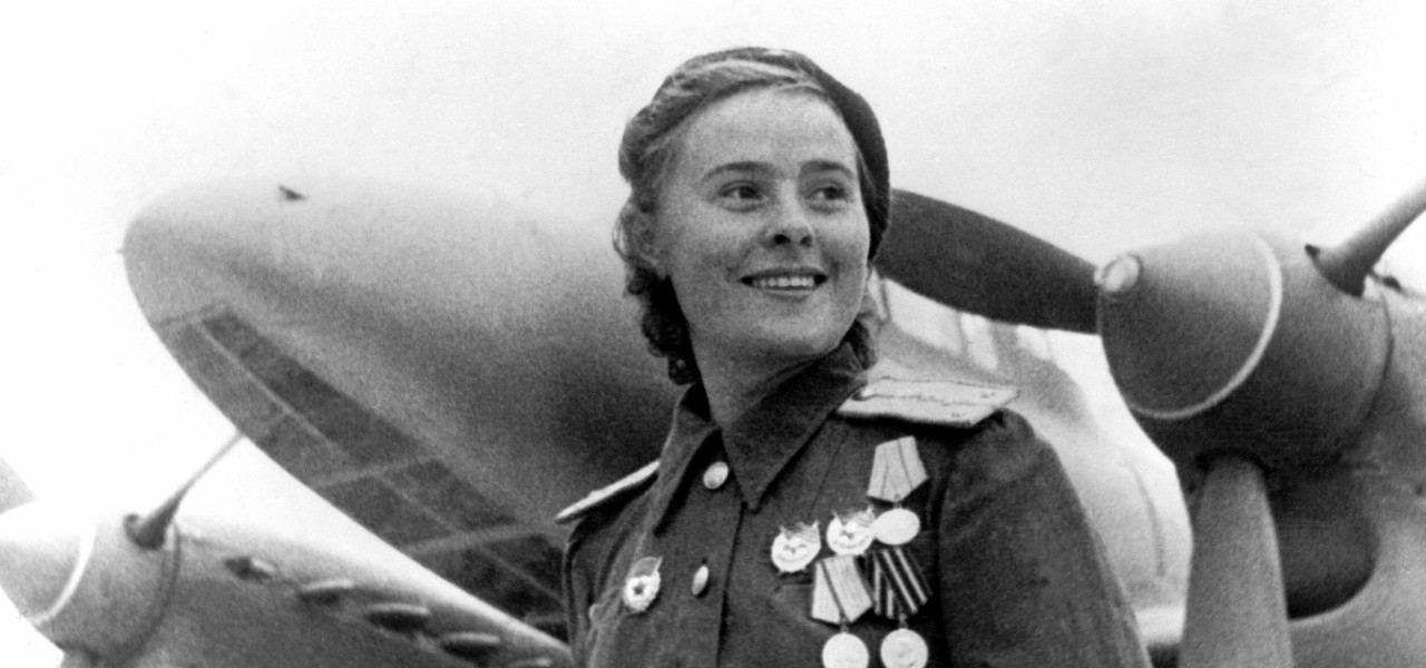 The highly decorated Soviet World War II fighter pilot Mariya Dolina