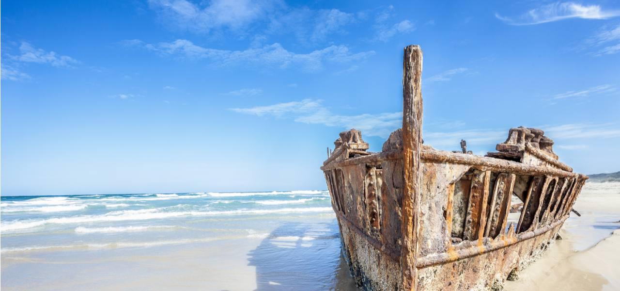 Historic SS Maheno Wreck, Fraser Island, Australia