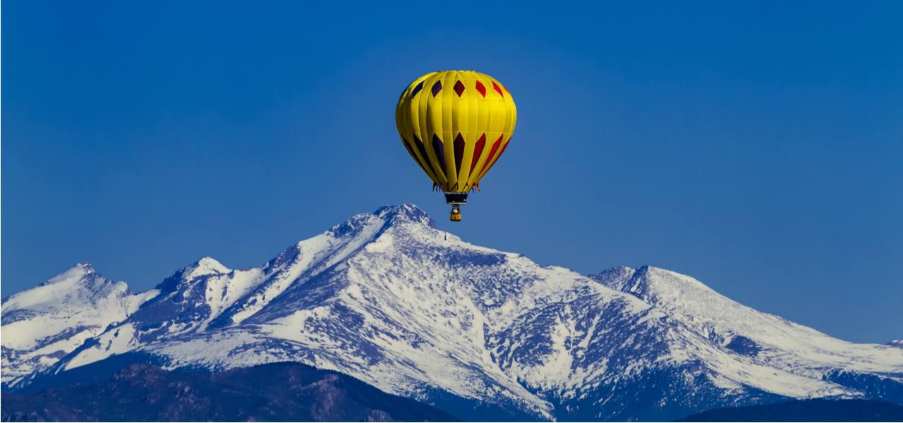 Hot Air Balloon Rodeo in Colorado