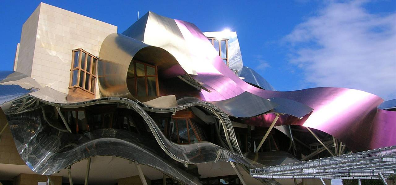 The Hotel Marques de Riscal in Spain