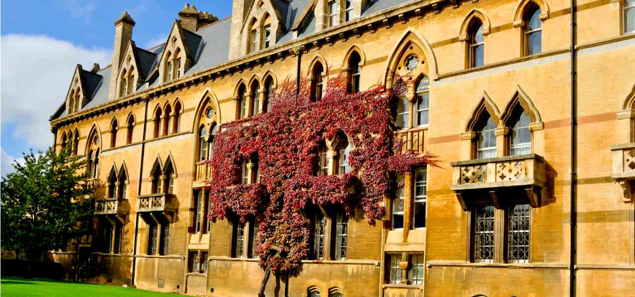 Ivy Clad wall Christ Church College, Oxford, inspiration for the Great Hall at Hogwarts