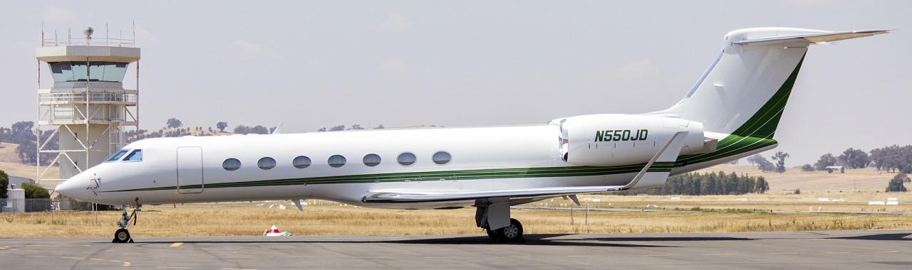 The private jet Gulfstream V
