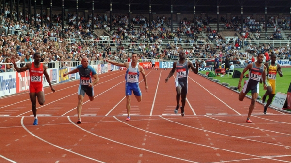 #3 Track and Field, Men's 100-Meter Race