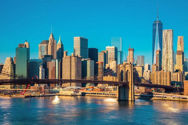New York bathed in early morning light