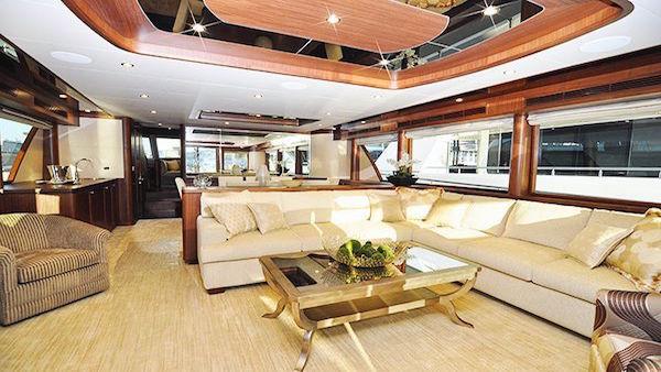 Interior of Oceanic Yacht 90