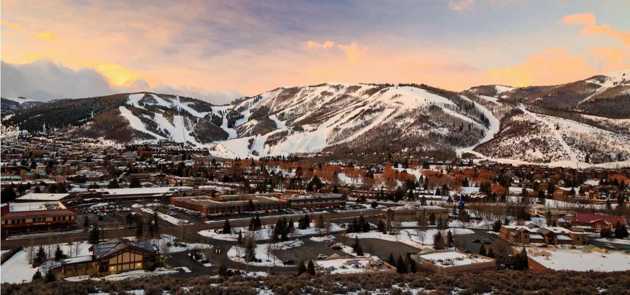 Park City, Utah, home to the Sundance Film Festival, in midwinter