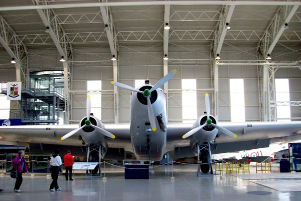 Plane inside and exhibition centre