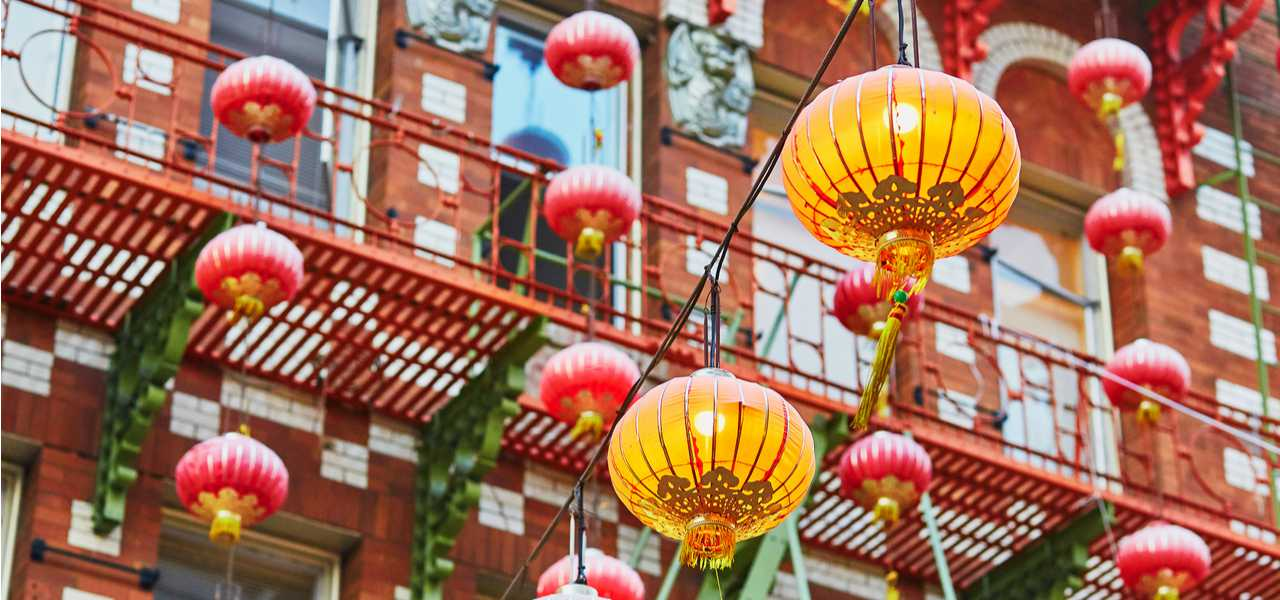 Red lanterns in San Francisco's famous China Town district