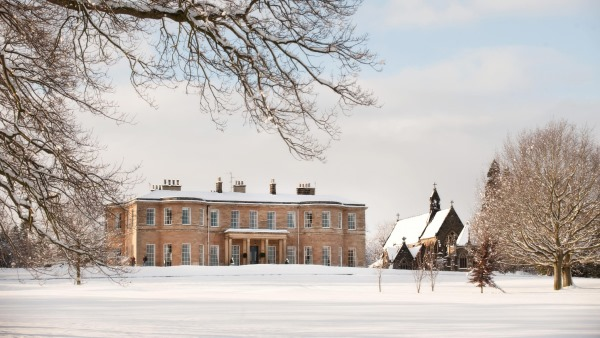 Rudding Park in the snow