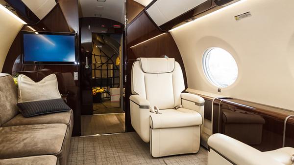 Private jet interior