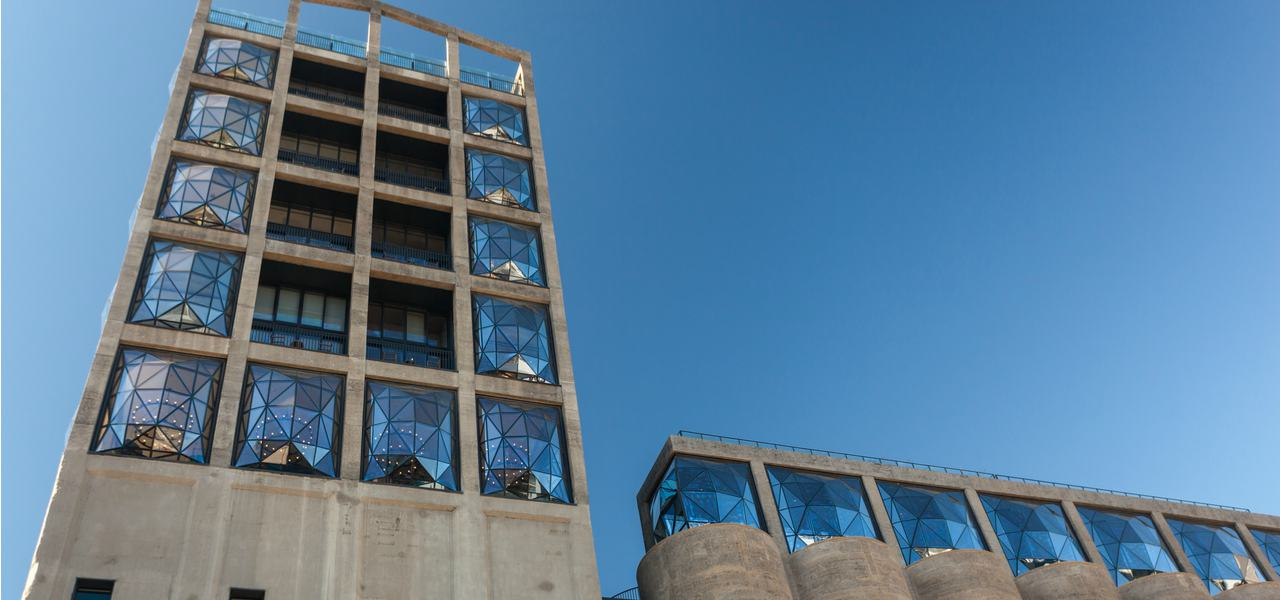 A view of the exterior of The Silo, one of Cape Town's most opulent and iconic hotels