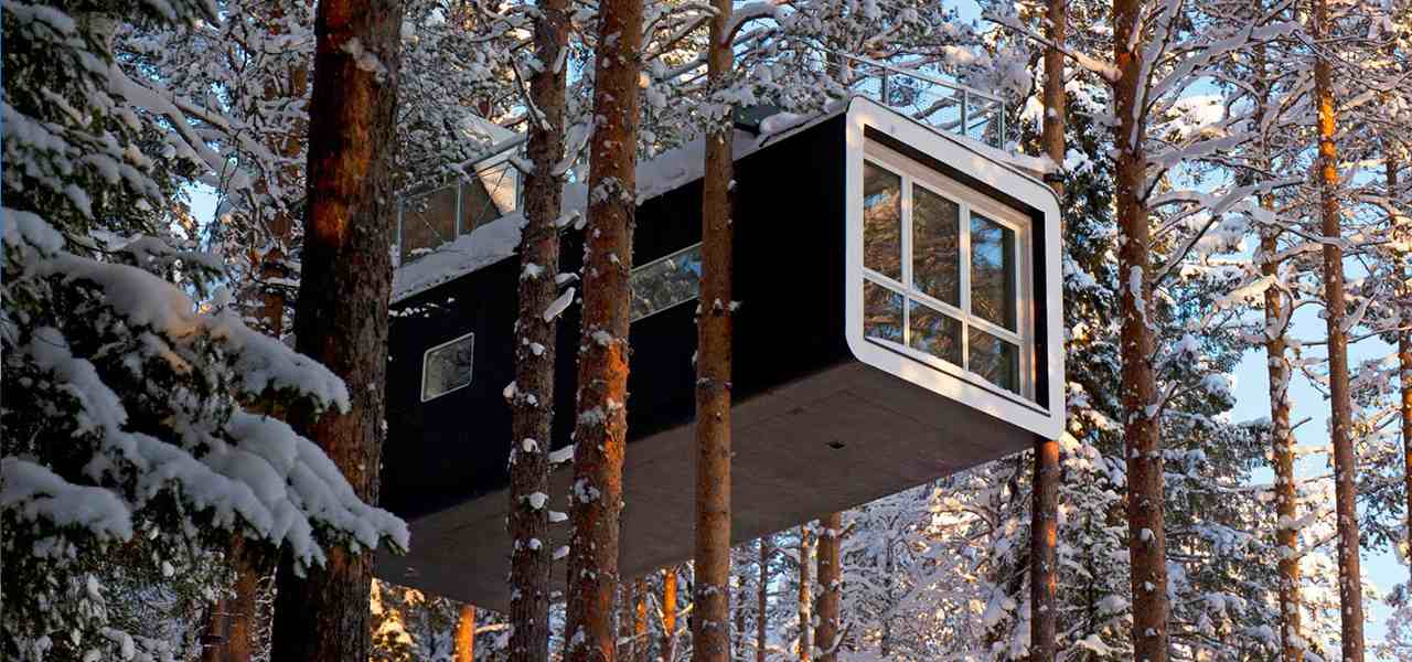 One of the rooms in Sweden's TreeHotel