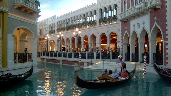 Las Vegas Gondola at the Venetian Hotel