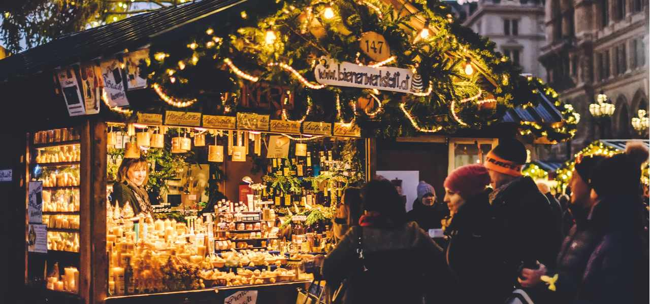 People shopping in a Viennese Christmas Market