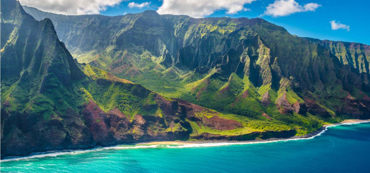View on Napali Coast on Kauai island, Hawaii