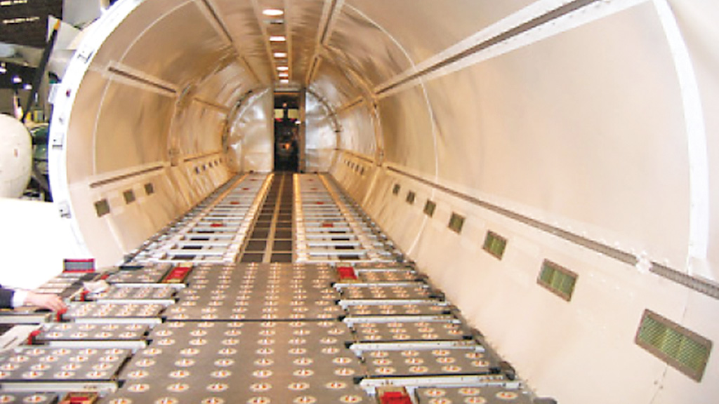 Interior of BAE ATP CARGO