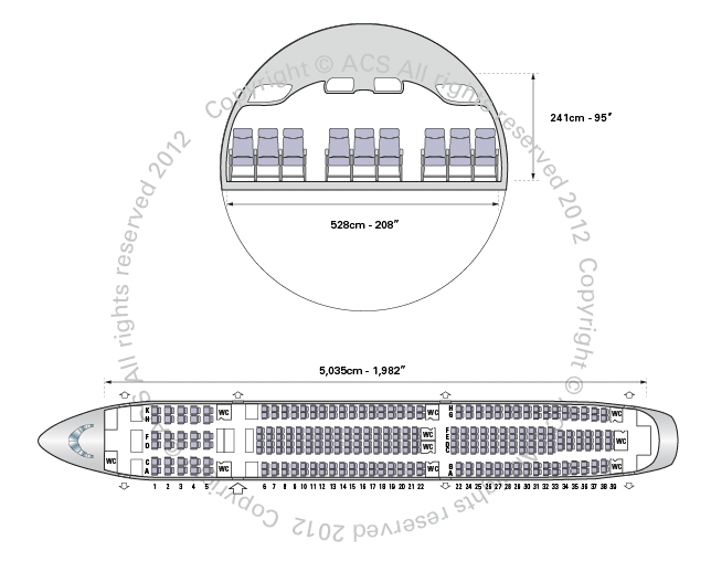 Layout Digram of AIRBUS A330-300
