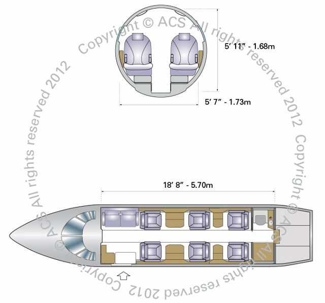 Layout Digram of CESSNA CITATION EXCEL