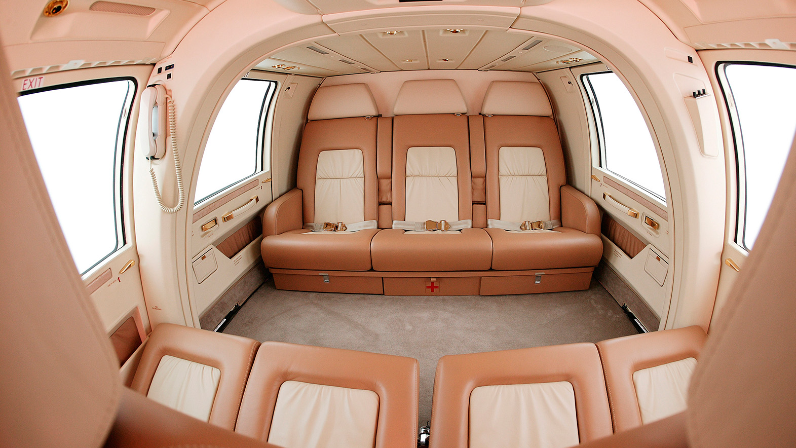 Interior of EUROCOPTER AS365 DAUPHIN