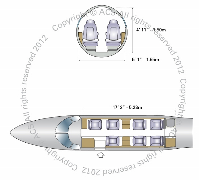 Layout Digram of EMBRAER PHENOM 300