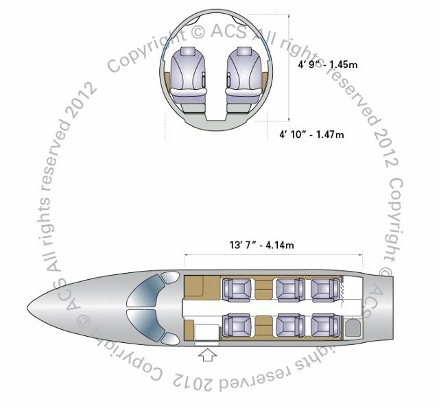 Layout Digram of CESSNA CITATION CJ2 AND CJ2 PLUS