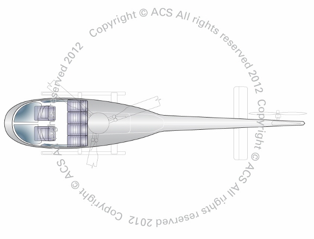 Layout Digram of EUROCOPTER AS350 ECUREUIL ASTAR