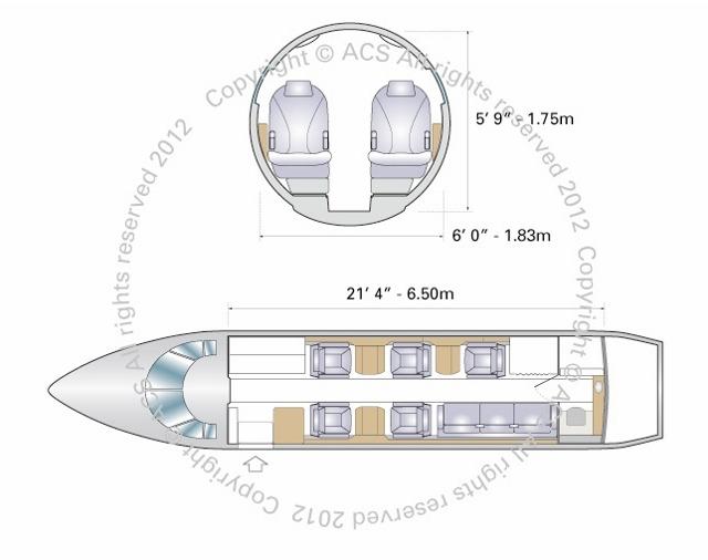 Layout Digram of HAWKER BEECHCRAFT  900XP