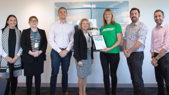 AIR CHARTER SERVICE RAISES £30,000 FOR MACMILLAN